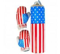 Боксерская груша с перчатками (45 см) Америка M-USA