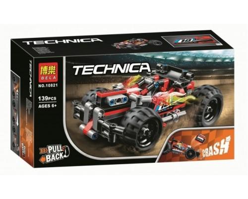 Конструктор Bela Technica 10821 Красный гоночный автомобиль