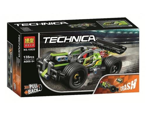 Конструктор Bela Technica 10820 Зеленый гоночный автомобиль
