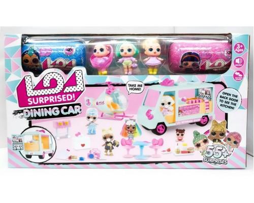 Игровой набор Машина ресторан с куклами и мебелью LOL ЛОЛ 5630