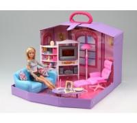 Мебель для куклы в чемодане Гостиная Gloria 2014HB