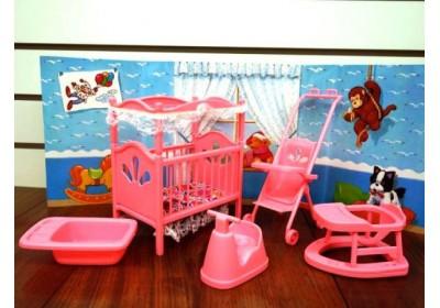 Мебель для куклы Детская комната Gloria 9409