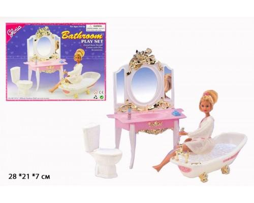 Мебель для куклы Ванная Gloria 2316