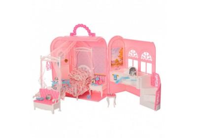 Мебель для куклы Спальня с ванной комнатой Gloria 9988