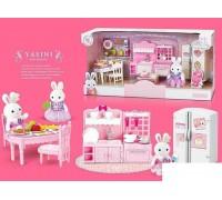 Набор мебели для зверюшек Happy Family 6617 Кухня