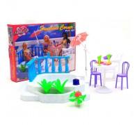 Мебель для куклы Отдых у бассейна Gloria 9879
