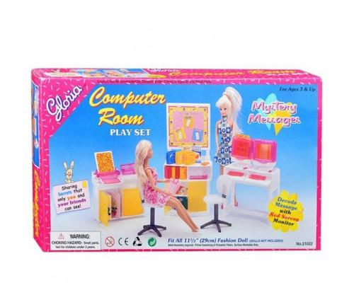 Мебель для куклы Gloria 21022 Компьютерный класс