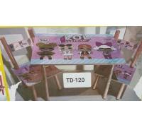 Комплект детский стол 2 стула LOL ЛОЛ