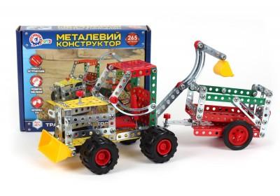 Металлический конструктор Технок Трактор с прицепом 4876