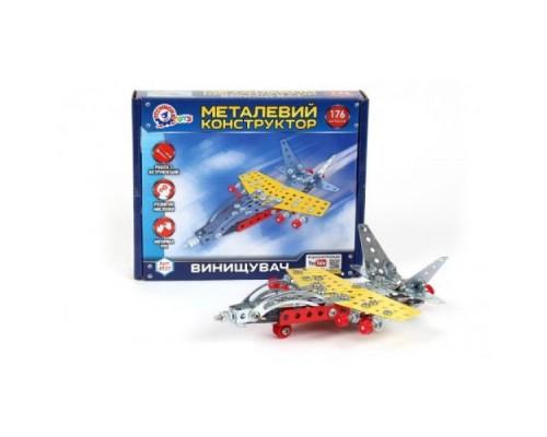 Металлический конструктор Технок Истребитель 4937