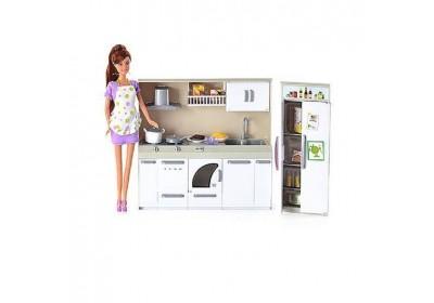 Набор кукла с мебелью кухня Defa 6085
