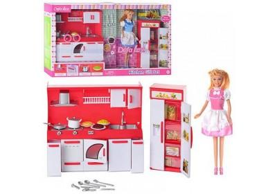 Набор кукла с мебелью кухня Defa 8085