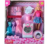 Кукла с нарядами и стиральной машинкой Defa 8323