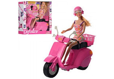 Кукла Defa Lucy на скутере 8246