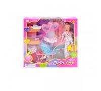 Кукла беременная с коляской Defa 8049