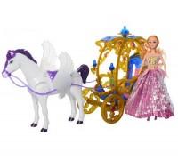 Карета с куклой и лошадкой 245A-266A-1 2 цвета