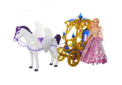 Карета с куклой и лошадкой 245A-266A-1 2 вида