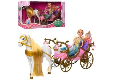 Карета с лошадкой и куклой 252A