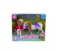 Кукла наездница с лошадкой Defa Cute Girl K899-12A