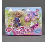 Кукла с велосипедом Defa Cute girl 899-13