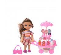 Кукла с тележкой мороженного и аксессуарами BLD220