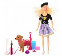 Кукла-скрипачка с собачкой Sariel 7726-A1