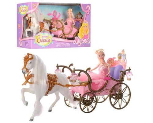 Карета принцессы с лошадкой 207A