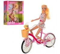 Кукла Defa Lucy на велосипеде 8276