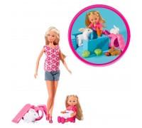 Кукла Штеффи и Эви с животными Simba 5732156