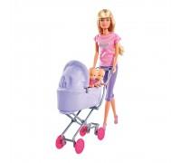 Кукла Simba Штеффи с коляской и малышами 5738060