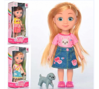 Кукла с собачкой 69005 3 вида