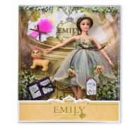 Кукла Emily с собачкой и расческой QJ078B