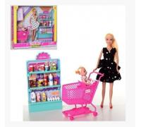 Набор Кукла с дочкой Супермаркет Defa 8364