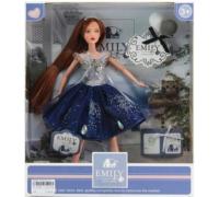 Кукла Emily QJ089B 30 см, фигурка котик, аксессуары
