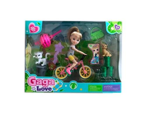 Набор кукла с велосипедом 53804