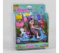 Набор кукла с мотоциклом и животными 53812
