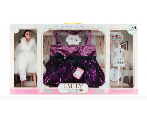 Кукла Emily с сумочкой для девочки и аксесуарами для куклы QJ083A
