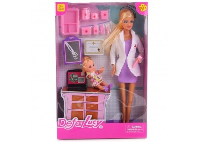 Кукла доктор с ребенком Defa 8348