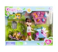 Кукла с коляской и питомцами 53801
