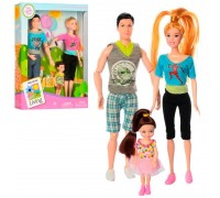 Набор кукол семья на прогулке 2 вида JX200-38