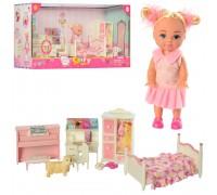 Кукла Defa с набором мебели спальня 8413