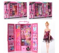 Набор игровой кукла с гардеробной DSJ69-1-4 3 вида