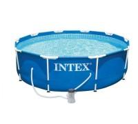 Бассейн каркасный Metal Frame Pool Intex 28202 305х76 см с фильтр насосом