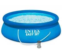 Бассейн наливной семейный Intex 28142 с фильтр-насосом 396*84 см