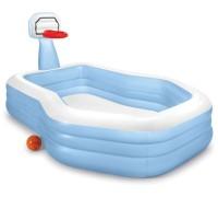 Детский надувной бассейн Intex 57183 257 х 188 х 130 см с баскетбольным кольцом