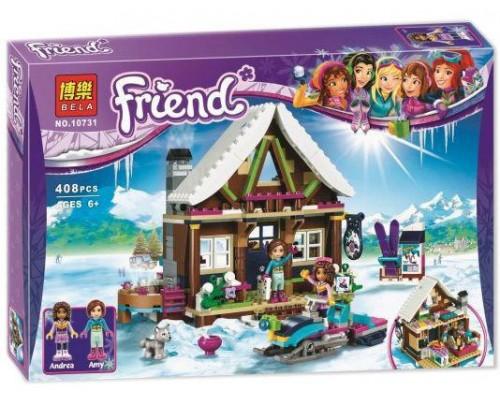 Конструктор Bela Friends 10731 Горнолыжный курорт: шале (аналог LEGO Friends 41323) 408 деталей