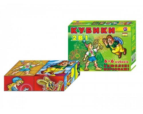 Кубики Любимые персонажи Технок 0892