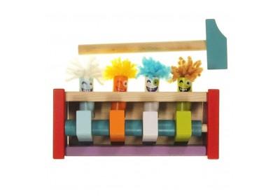 Клоуны-прыгунки деревянная игрушка Cubika 13746