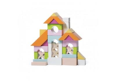 Конструктор деревянный Городок для девочек Cubika 13906 55 деталей