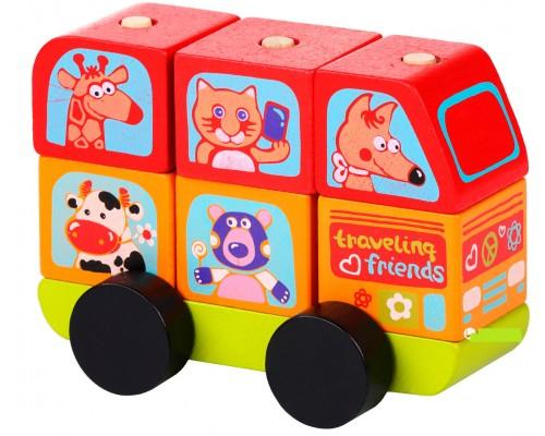 Автобус Веселые животные LM-10 Cubika 13197